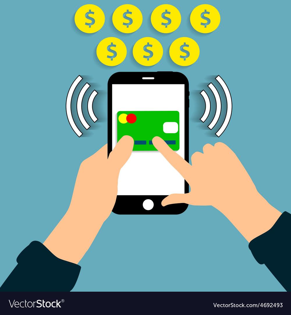 Online payment vector | Price: 1 Credit (USD $1)