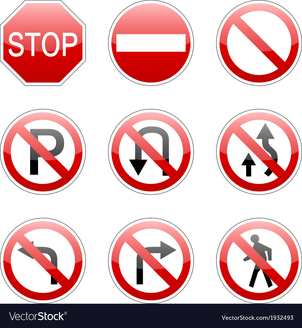Pack traffic sign vector | Price: 1 Credit (USD $1)