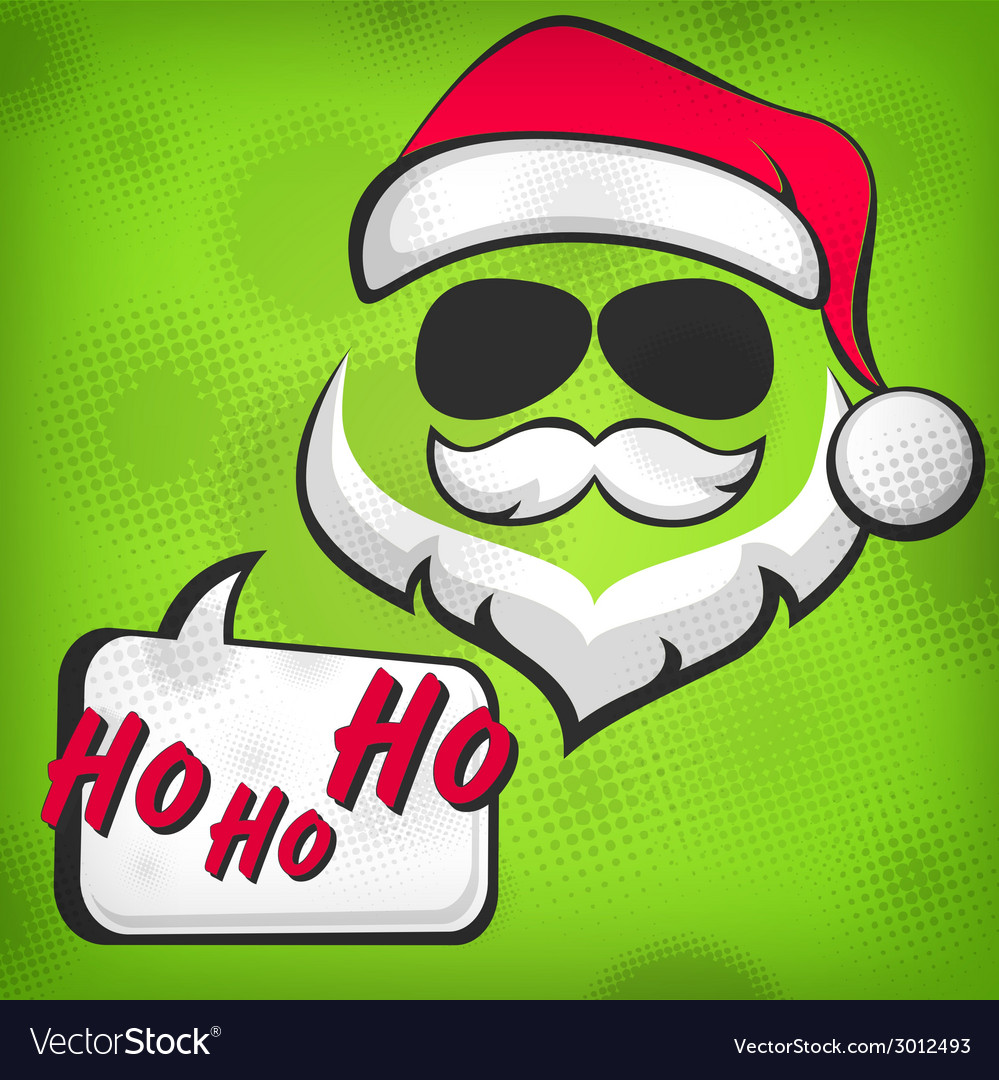 Santa claus hipster style vector | Price: 1 Credit (USD $1)