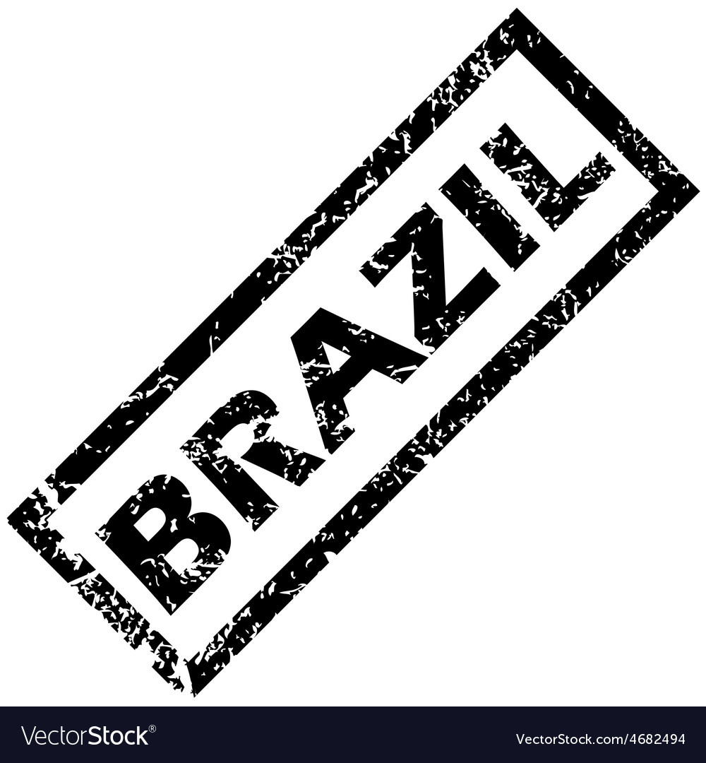 Brazil rubber stamp vector | Price: 1 Credit (USD $1)