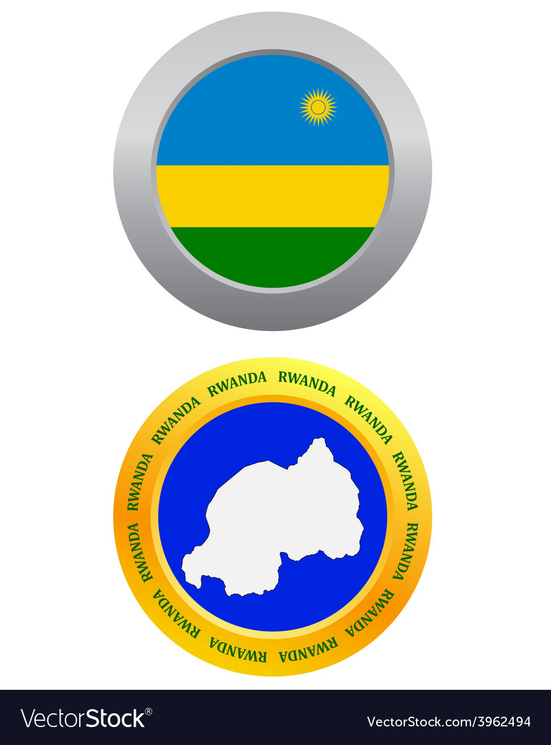 Button as a symbol rwanda vector | Price: 1 Credit (USD $1)