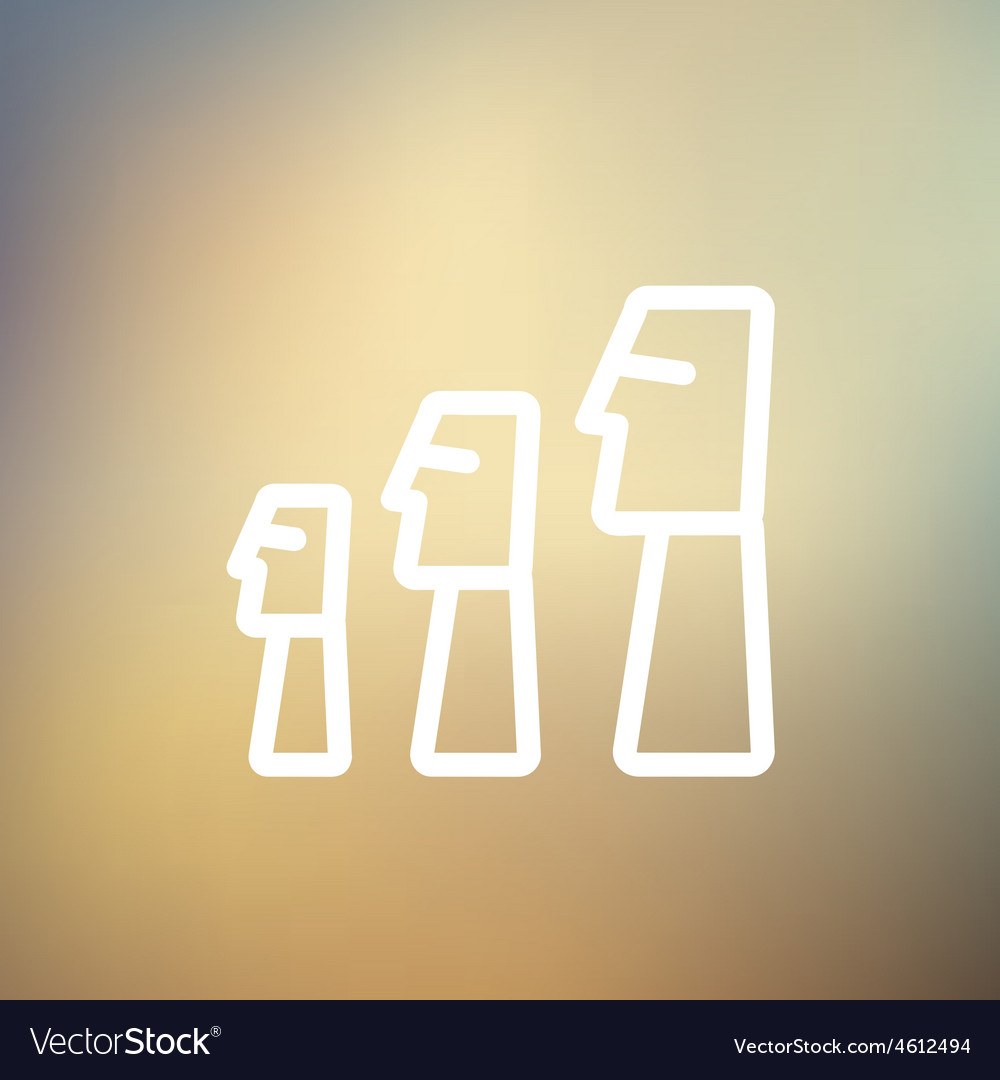Easter island statues statue thin line icon vector | Price: 1 Credit (USD $1)