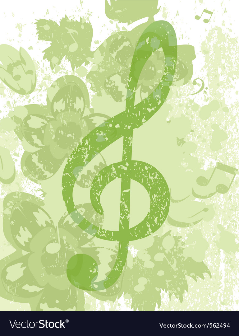 Grunge treble clef vector | Price: 1 Credit (USD $1)