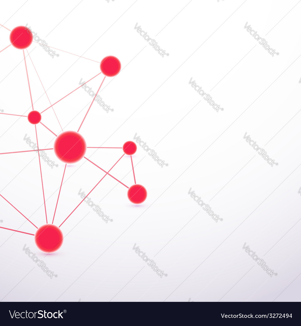 Red hi-tech molecule cell abstract connection vector | Price: 1 Credit (USD $1)