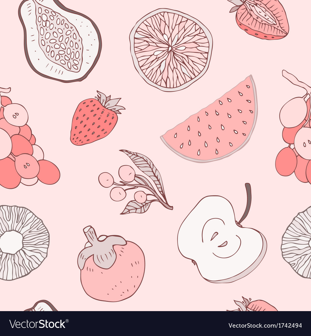 Seamless fruits background vector   Price: 1 Credit (USD $1)