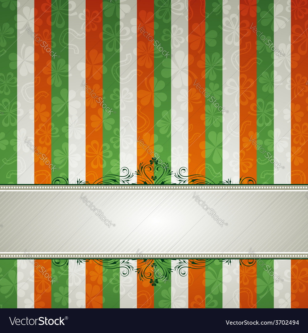 Striped background with shamrock vector | Price: 1 Credit (USD $1)