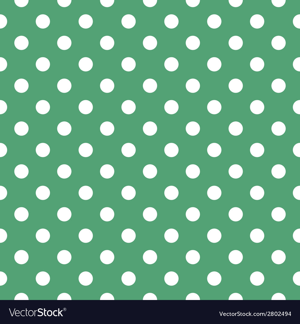 Tile pattern with polka dots on green background vector | Price: 1 Credit (USD $1)