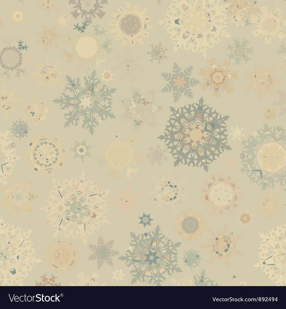 Vintage snowflakes card vector | Price: 1 Credit (USD $1)