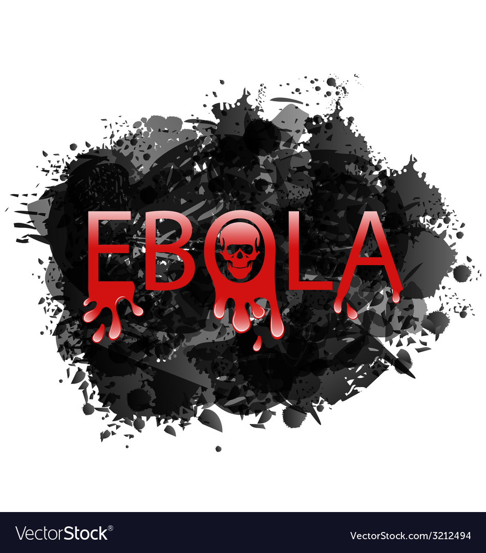 Warning epidemic ebola virus grunge background - vector | Price: 1 Credit (USD $1)