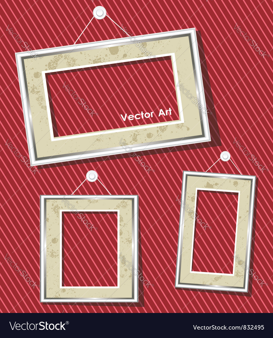 Antique picture frames vector | Price: 1 Credit (USD $1)