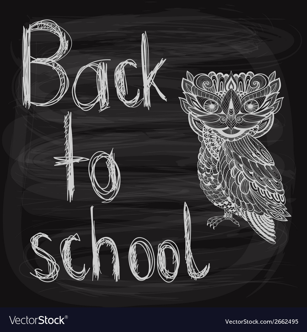 Back to school chalk drawn background vector | Price: 1 Credit (USD $1)
