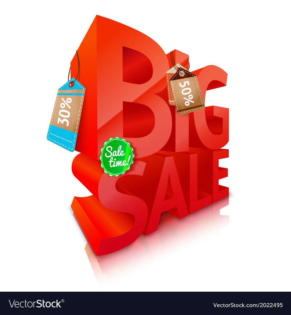 Big sale text emblem vector | Price: 1 Credit (USD $1)