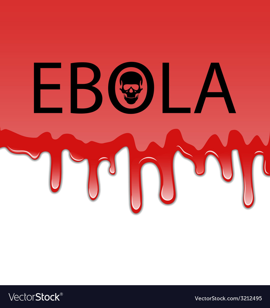Bloody background with ebola virus - vector | Price: 1 Credit (USD $1)