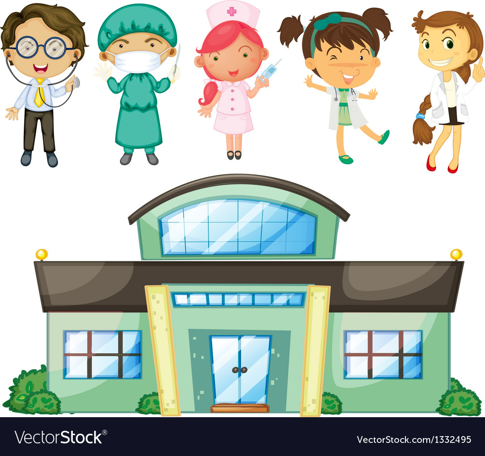 Doctors and nurses at the hospital vector | Price: 1 Credit (USD $1)