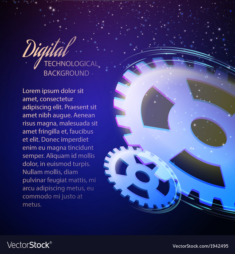 Gear-wheels over lights rays with dark background vector   Price: 1 Credit (USD $1)