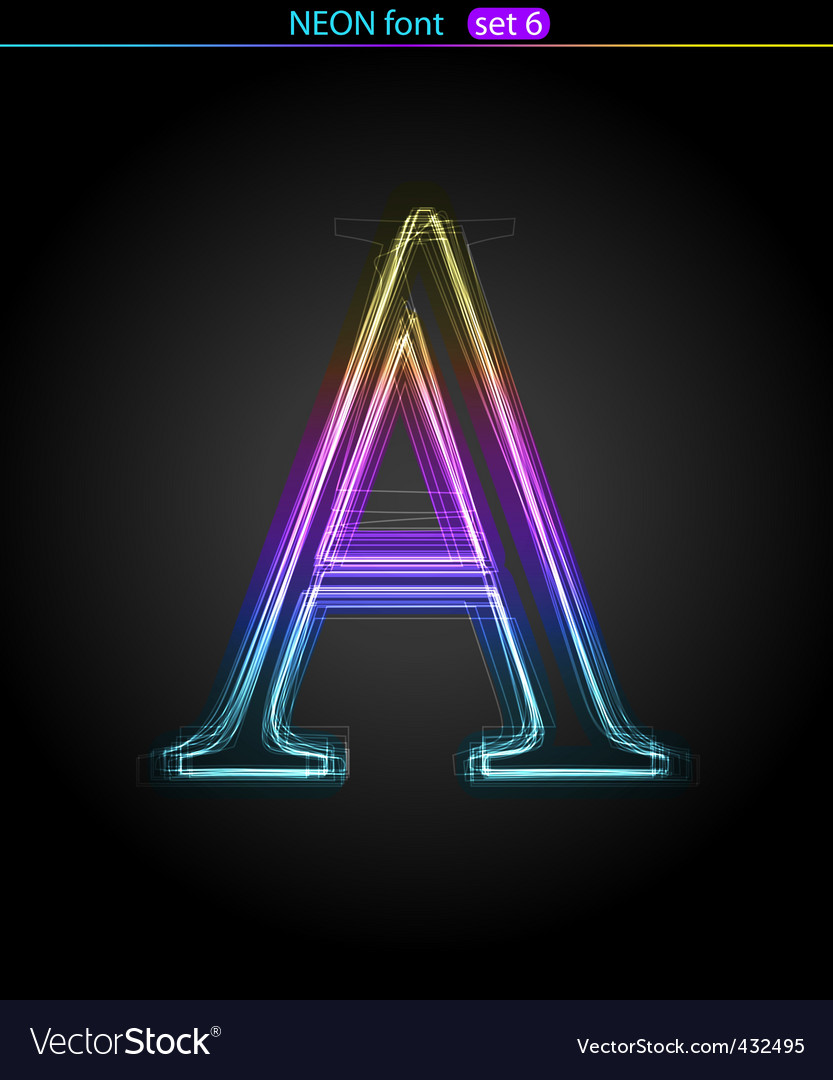 Neon letter a vector | Price: 1 Credit (USD $1)