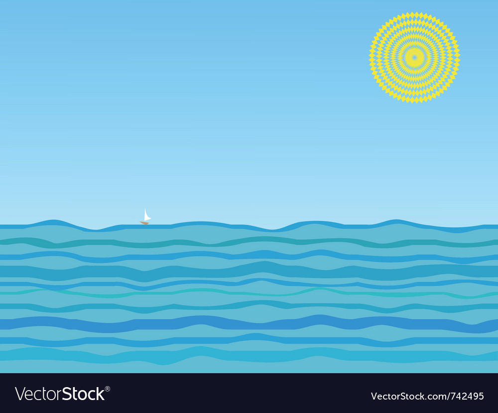 Of a sail on a sunny day vector | Price: 1 Credit (USD $1)