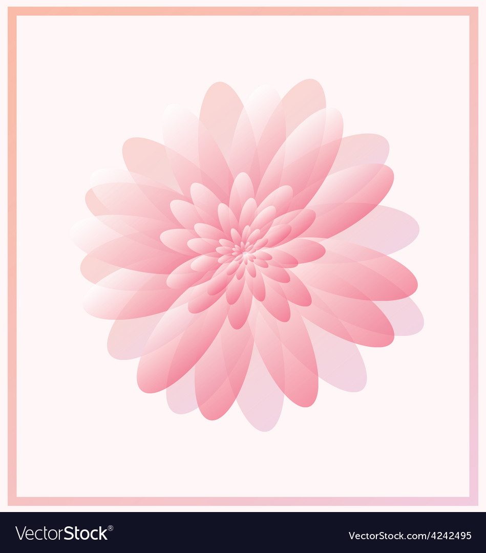 Pink abstract flower vector | Price: 1 Credit (USD $1)