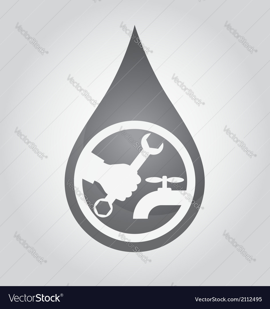 Repair plumbing drop vector | Price: 1 Credit (USD $1)
