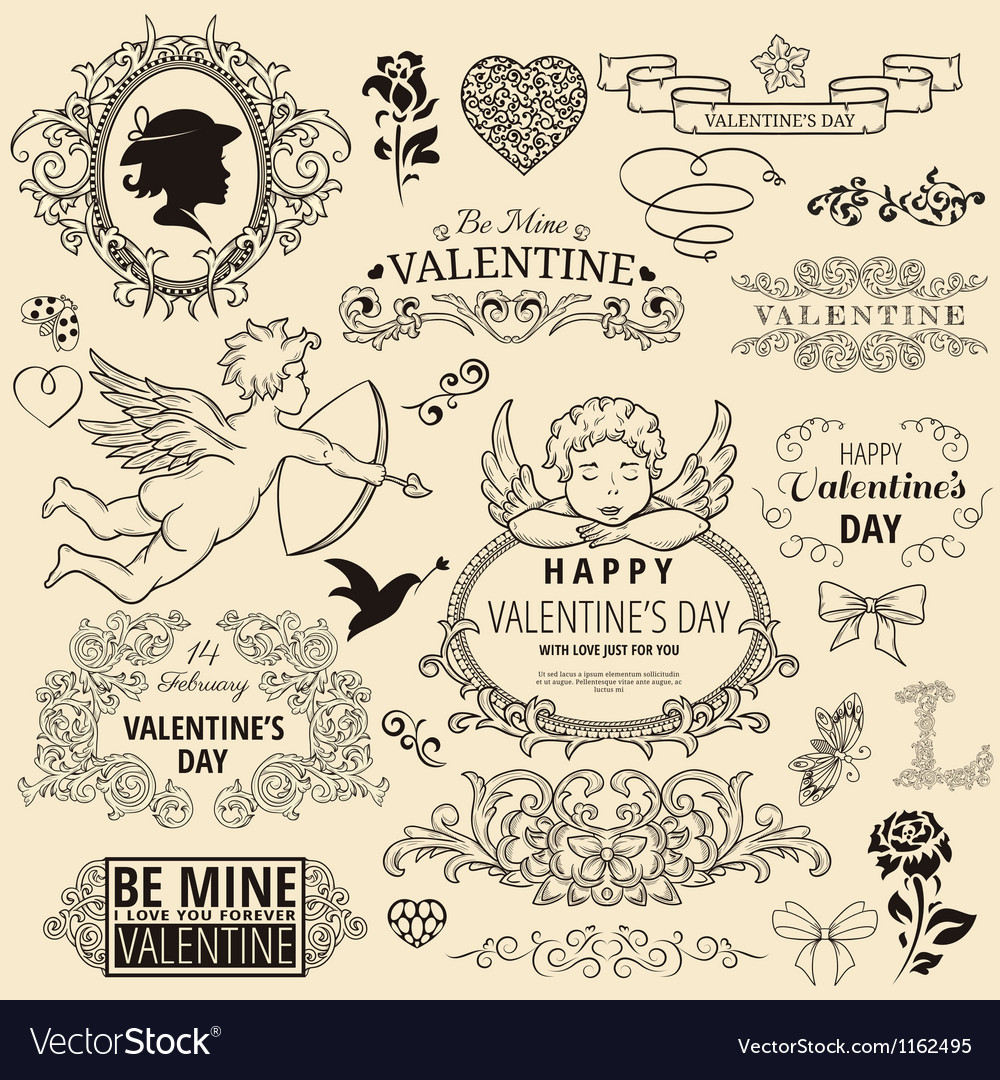 Royalityvalentinesetvs vector | Price: 1 Credit (USD $1)