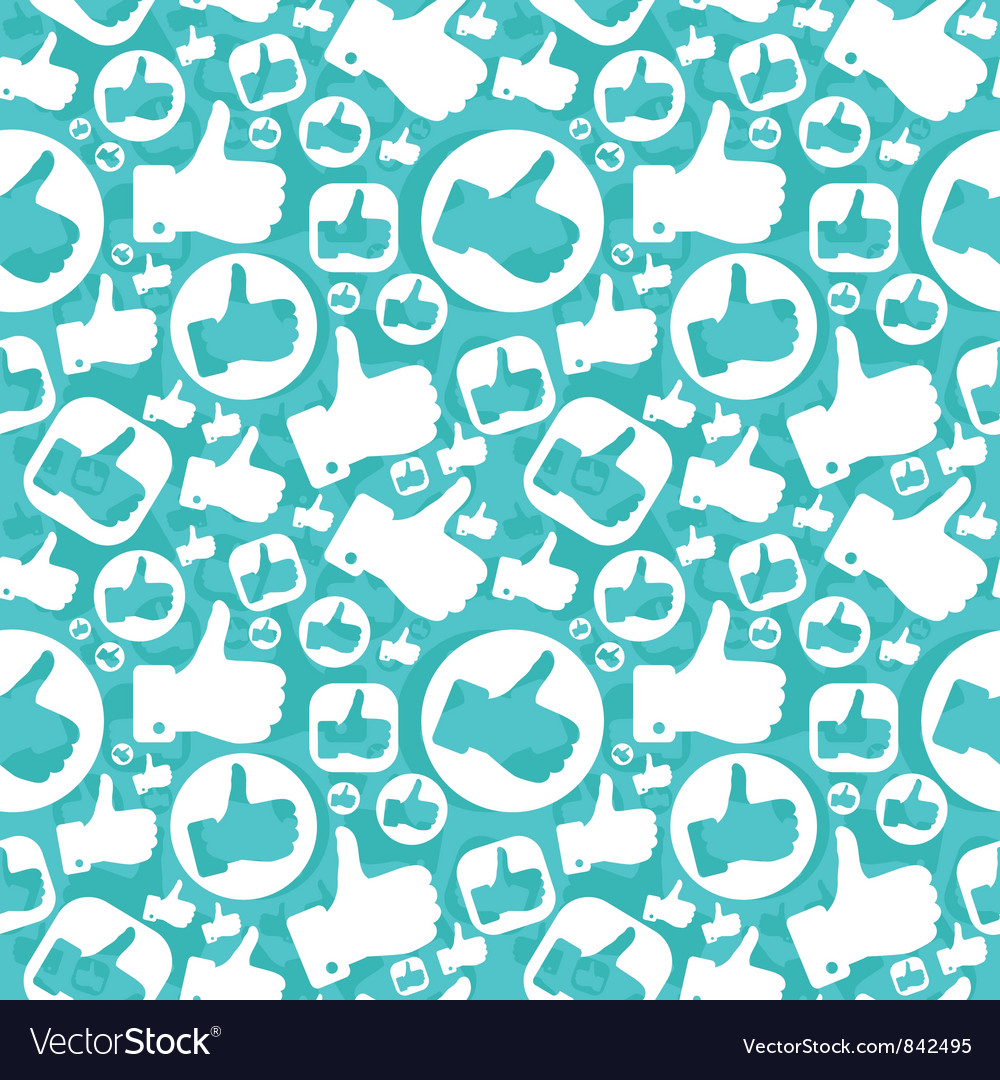 Seamless pattern with like signs vector | Price: 1 Credit (USD $1)