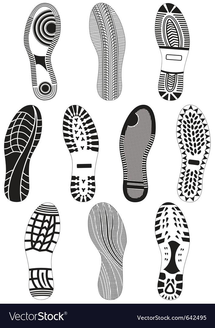 Set of footprints vector