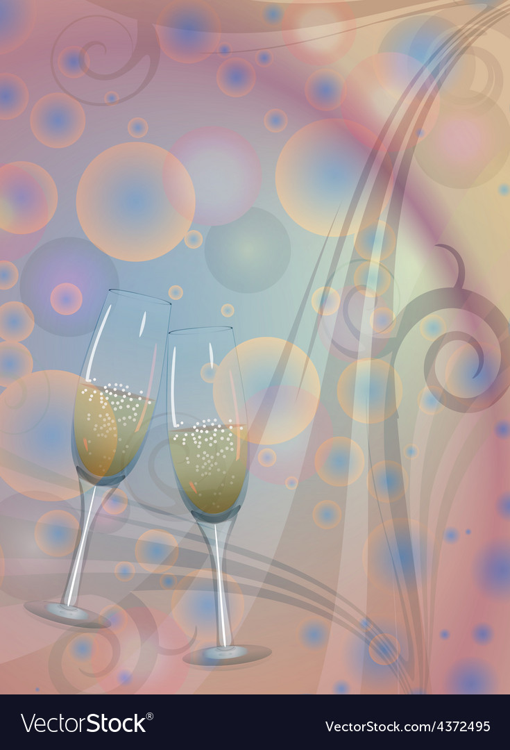 Toast champagne wine vector | Price: 1 Credit (USD $1)