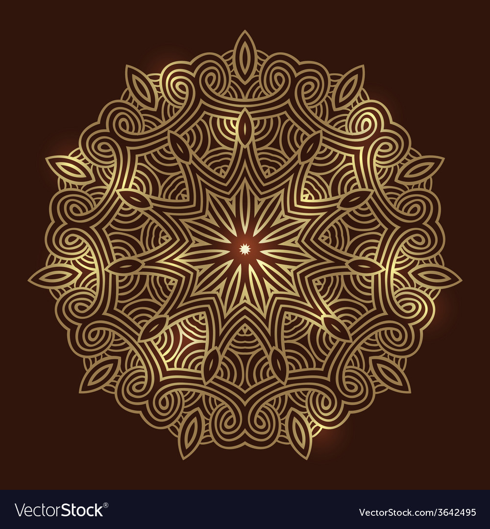 Winter celtic knot pattern card mandala amulet vector | Price: 1 Credit (USD $1)