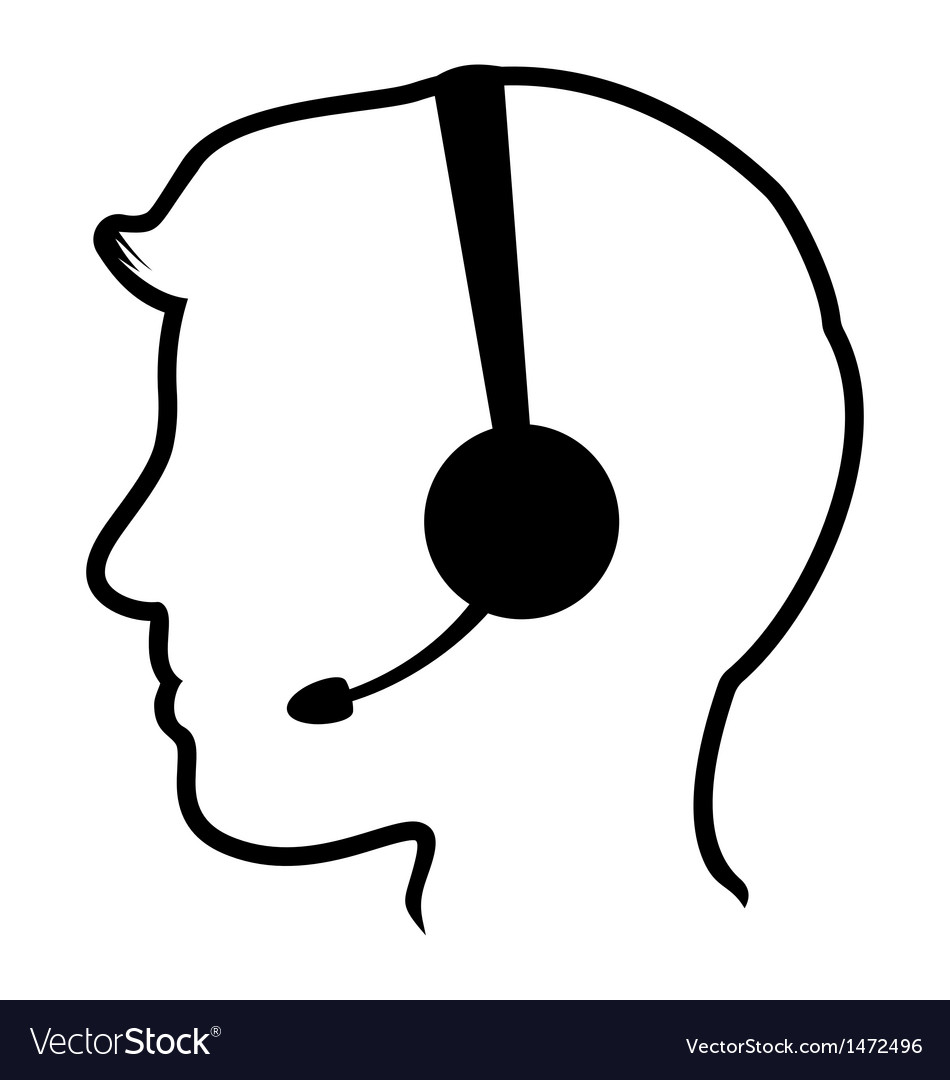 Call center man icon vector | Price: 1 Credit (USD $1)