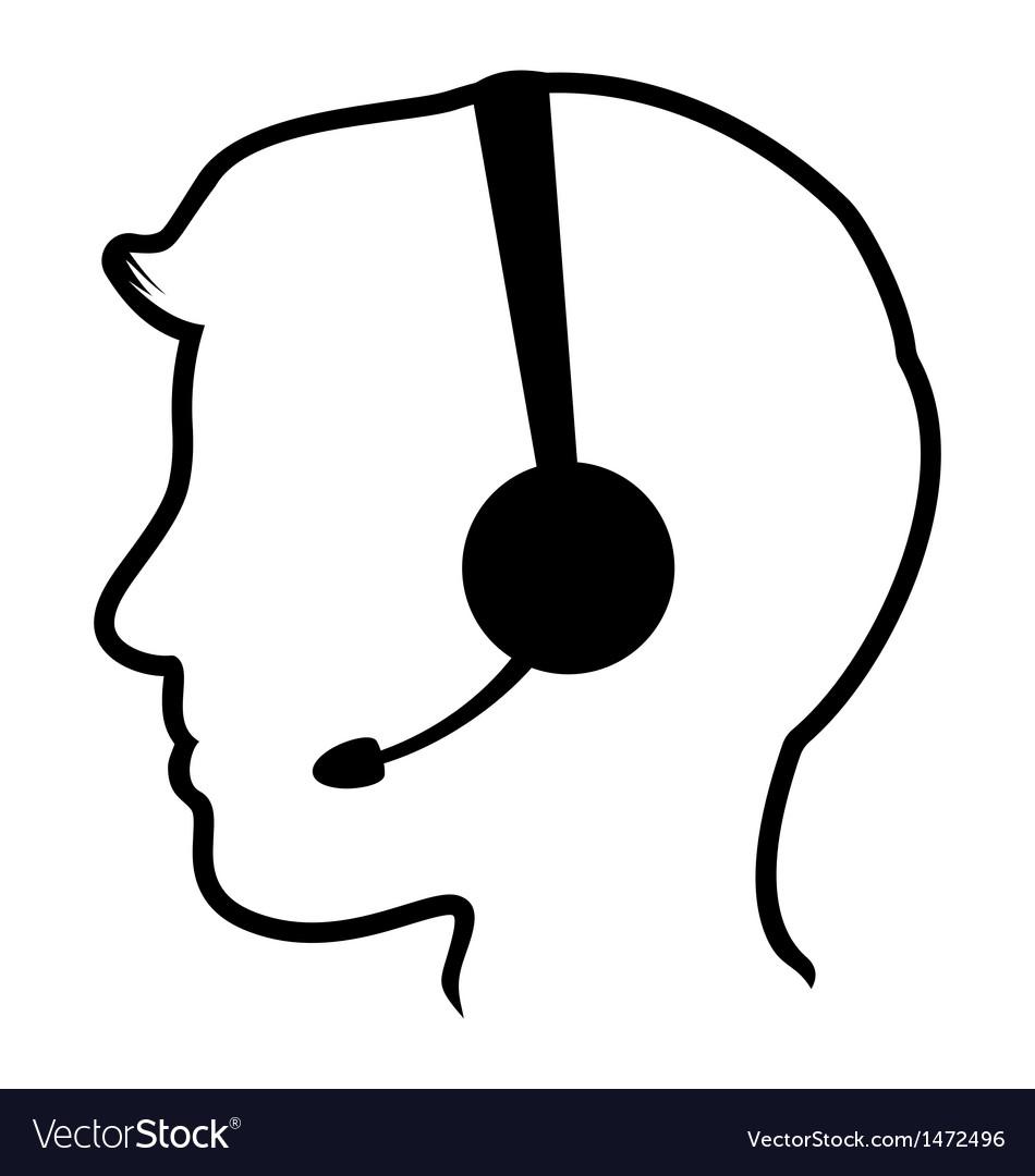 Call center man icon vector | Price: 1 Credit (USD $1)