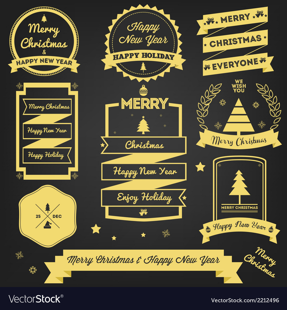 Christmas greeting label premium design vector | Price: 1 Credit (USD $1)