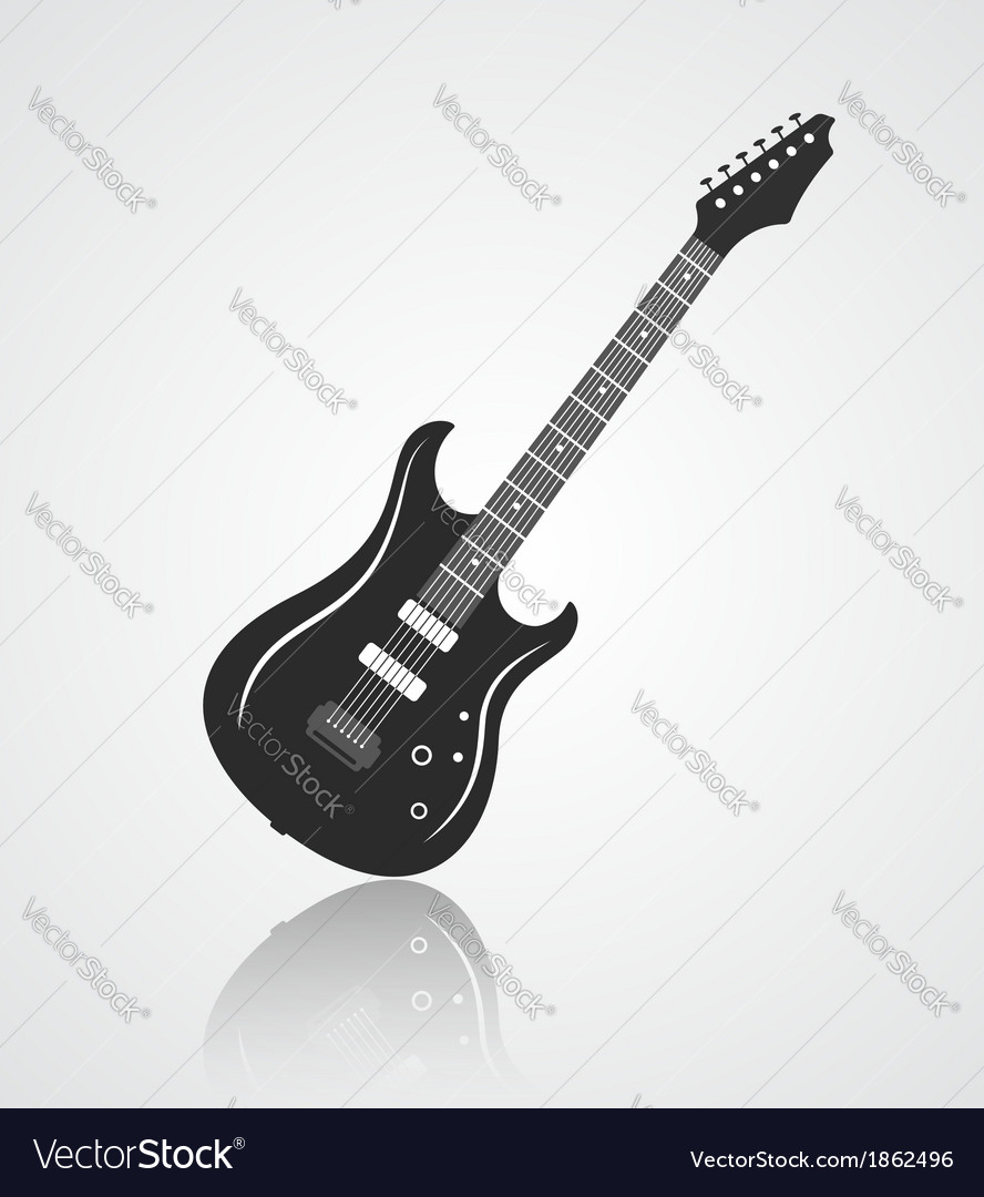 Electric guitar icon vector | Price: 1 Credit (USD $1)
