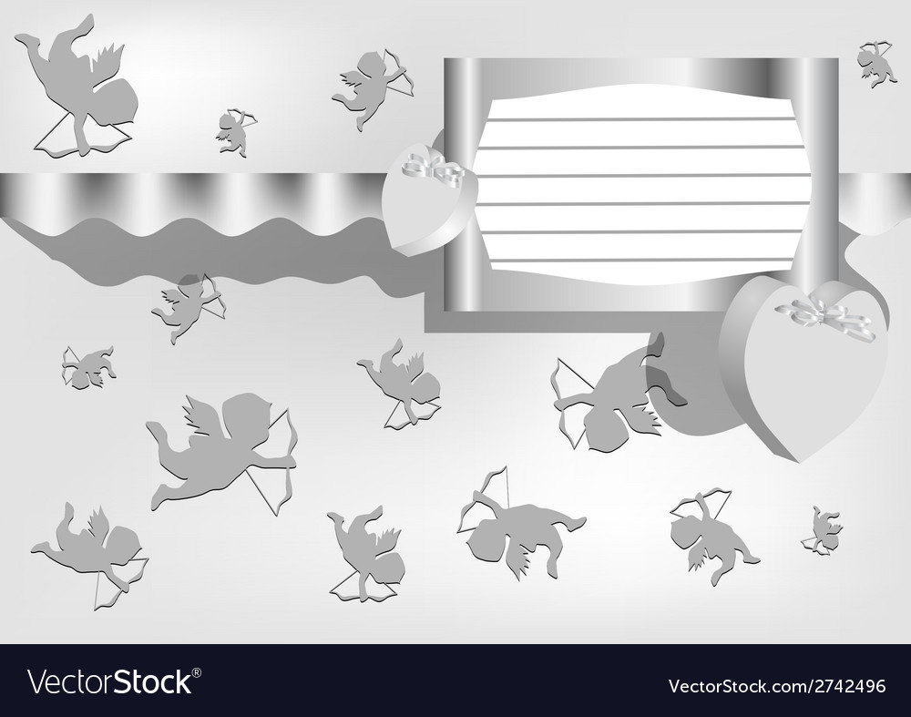 Gray background for valentines day vector | Price: 1 Credit (USD $1)