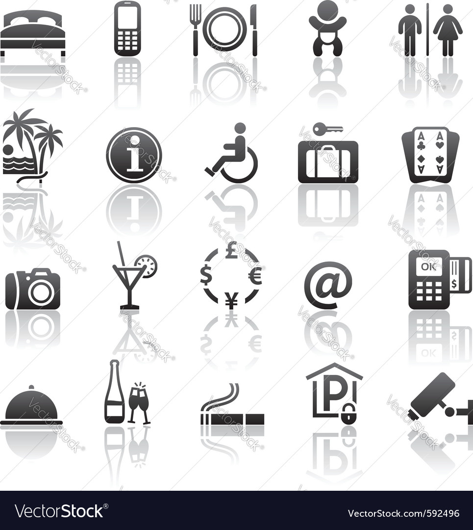 Pictograms hotel services vector | Price: 1 Credit (USD $1)