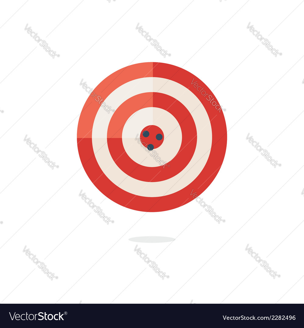Red darts target on white background vector | Price: 1 Credit (USD $1)