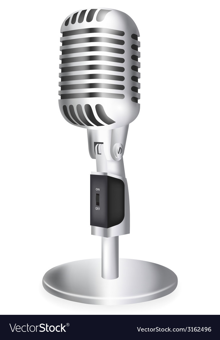 Single retro microphone vector | Price: 1 Credit (USD $1)