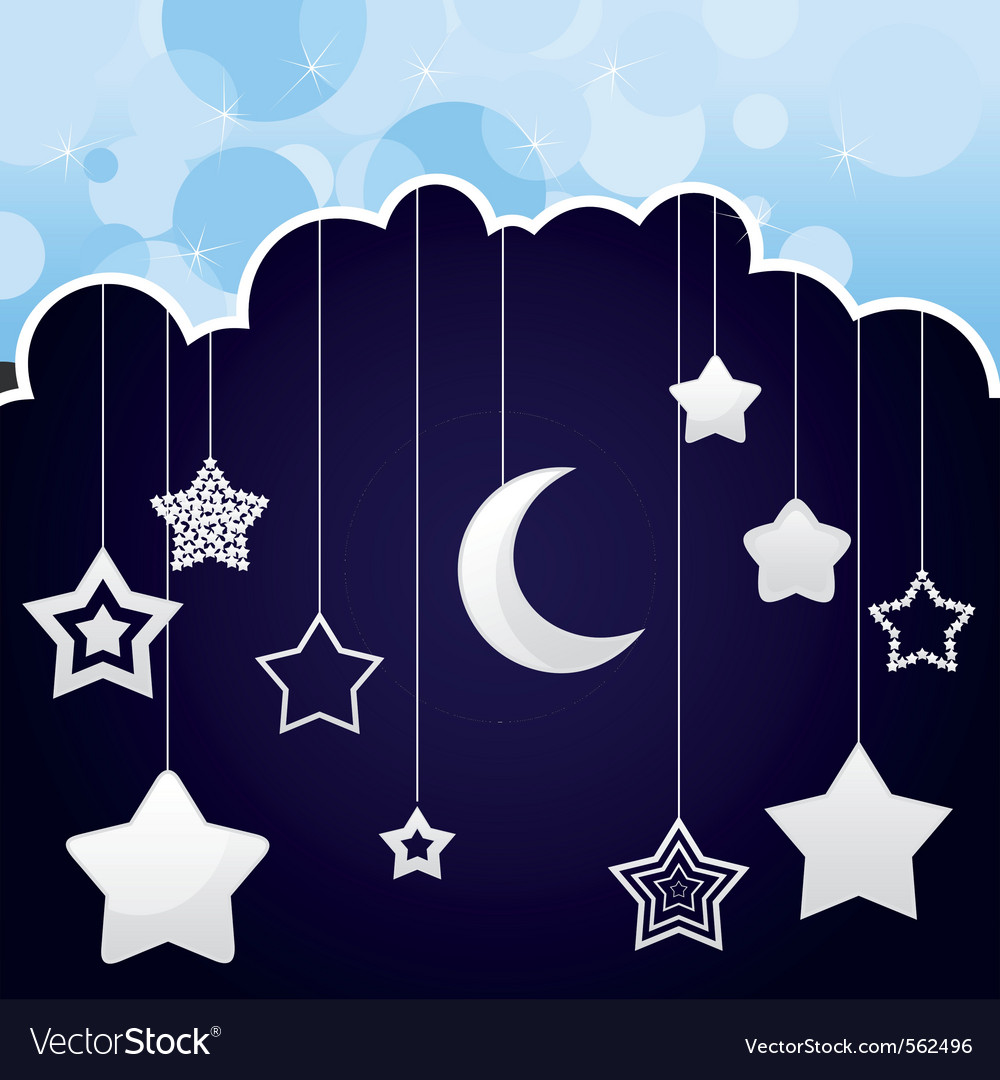 Stars and moon mobile vector   Price: 1 Credit (USD $1)