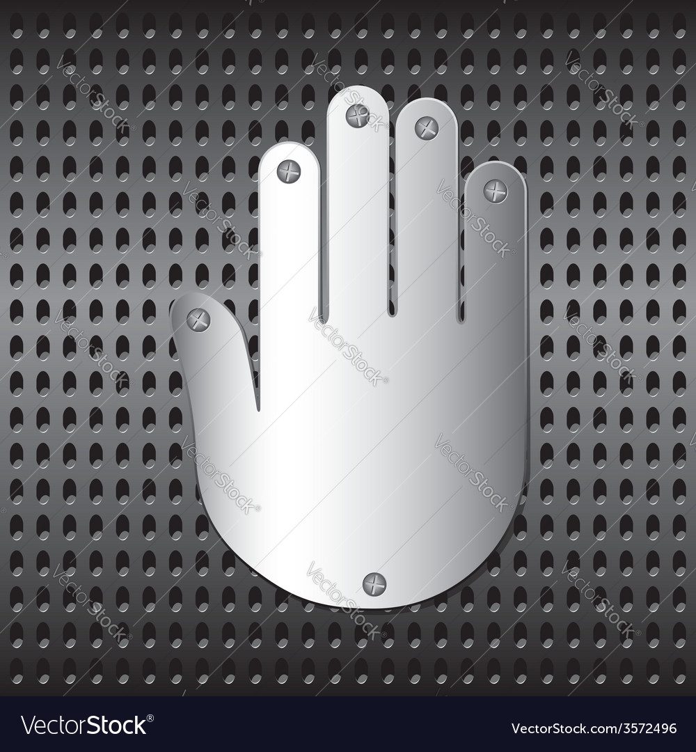 Stopping metal hand vector | Price: 1 Credit (USD $1)