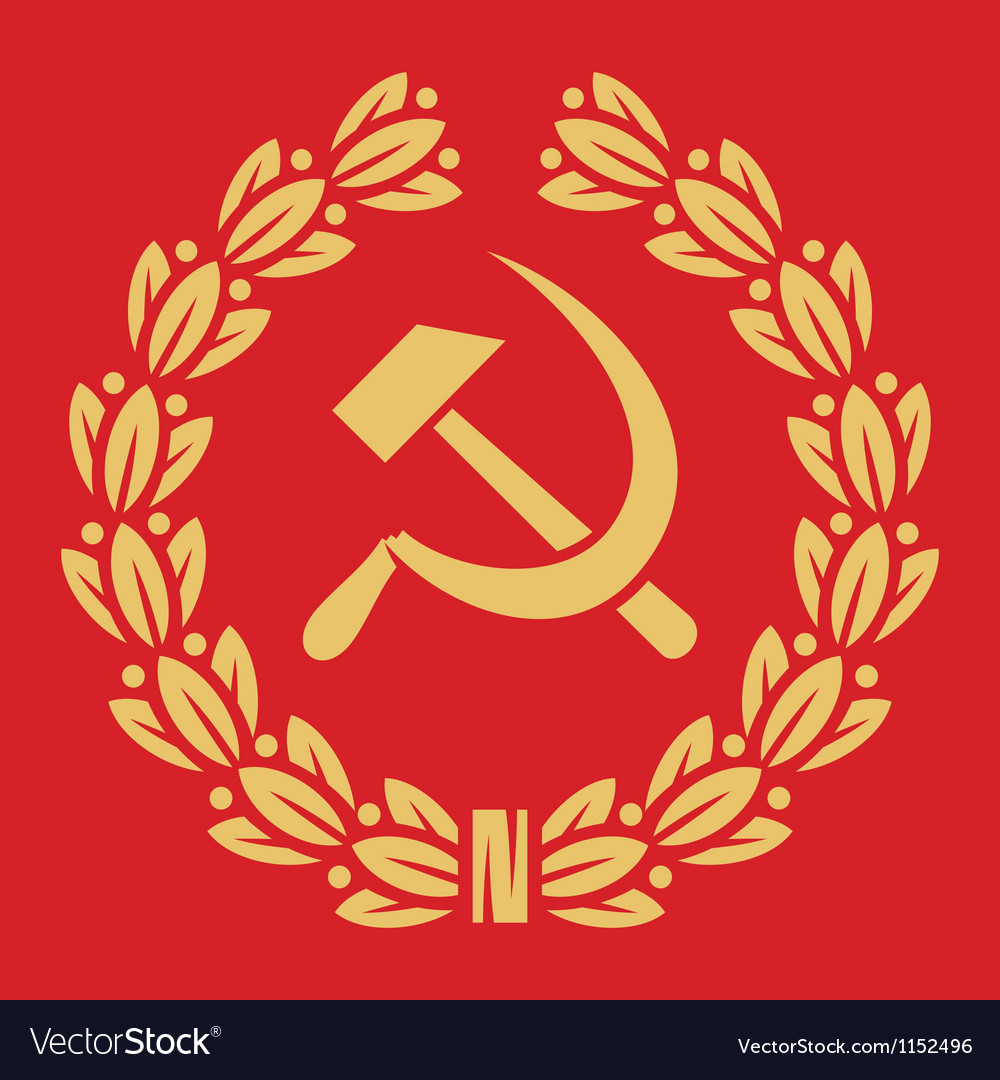 Symbol of ussr - hammer and sickle vector | Price: 1 Credit (USD $1)