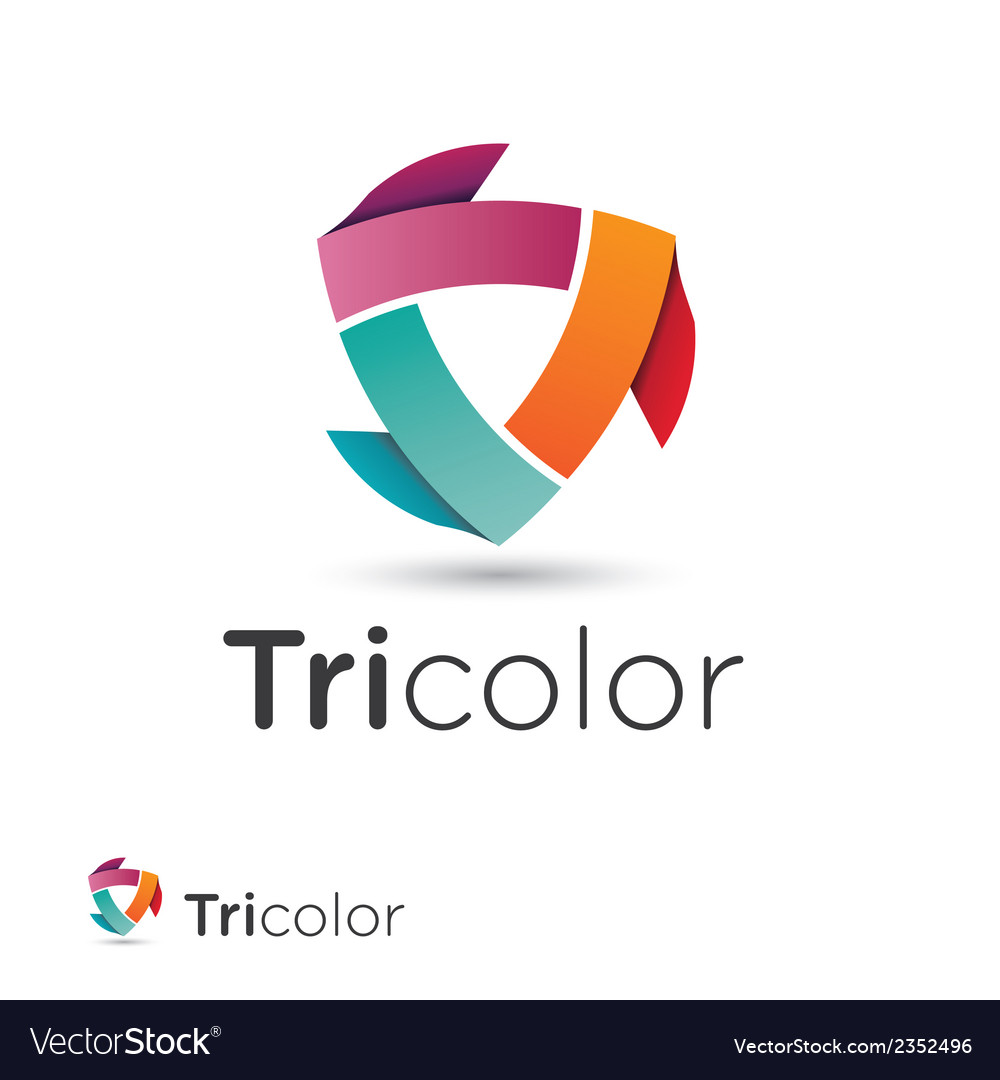 V 000185 tricolor vector | Price: 1 Credit (USD $1)