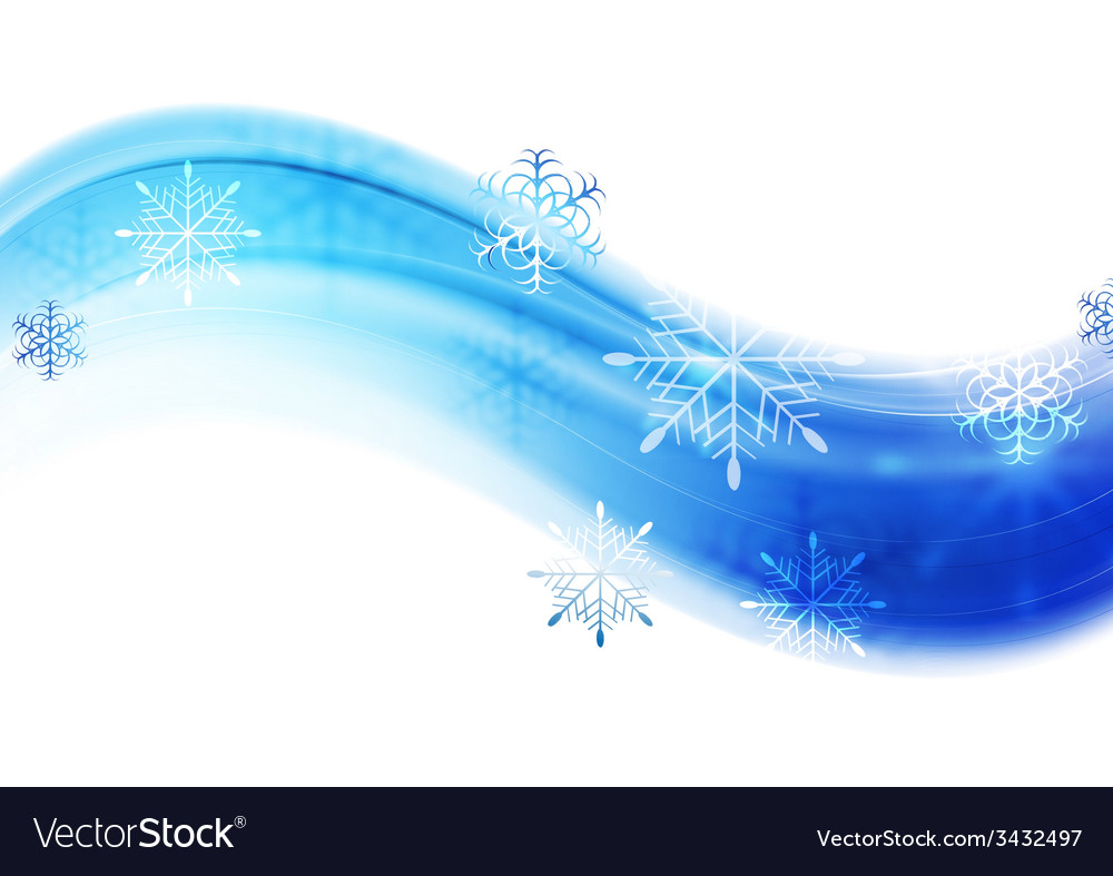 Blue wavy abstract christmas background vector | Price: 1 Credit (USD $1)