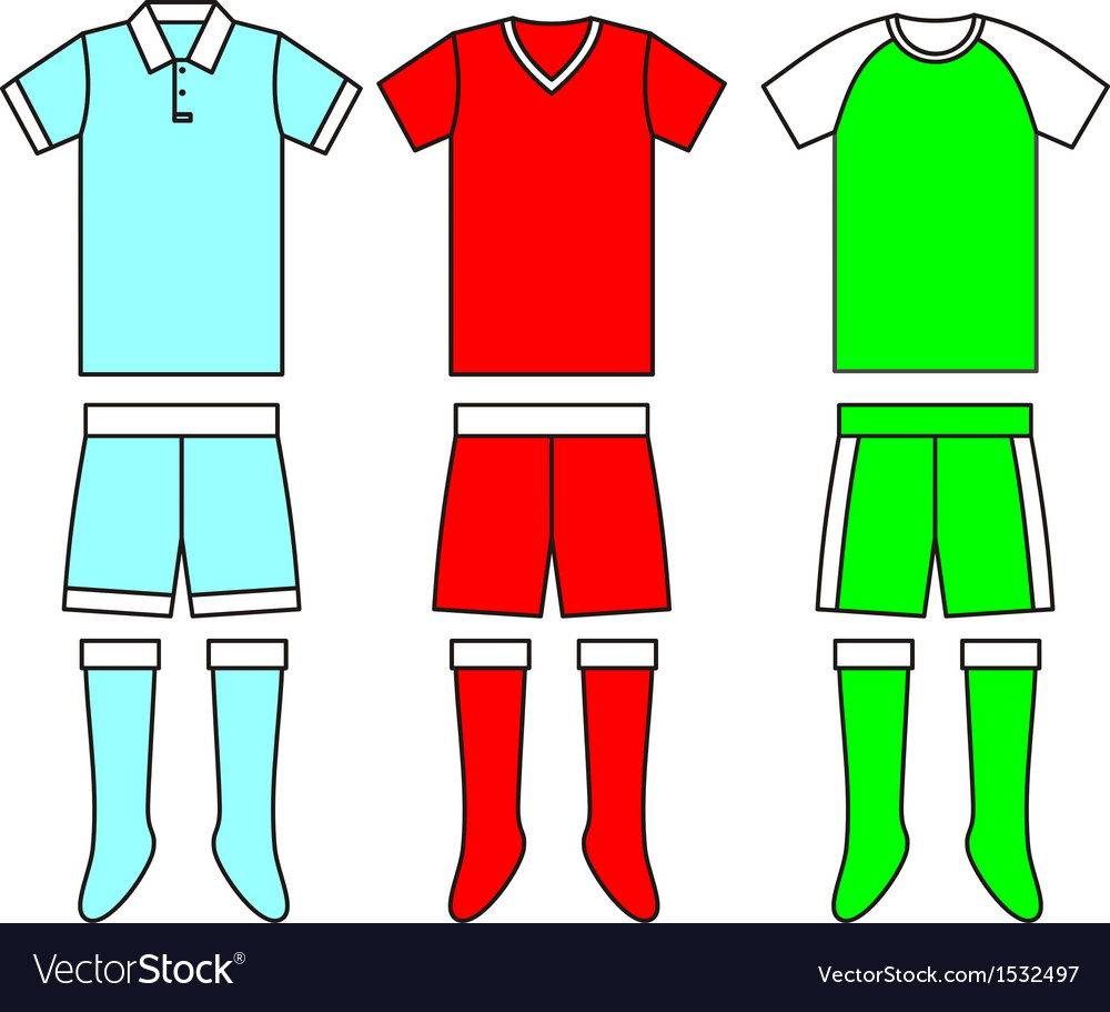 Different football soccer uniforms vector | Price: 1 Credit (USD $1)