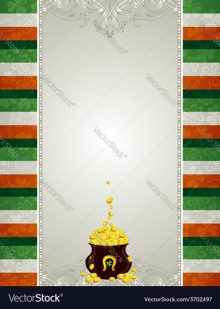 Grey background and pot with golden coins vector   Price: 1 Credit (USD $1)