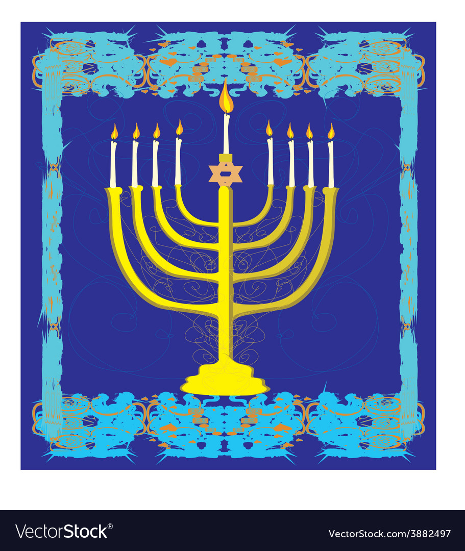 Hanukkah greeting card vector | Price: 1 Credit (USD $1)