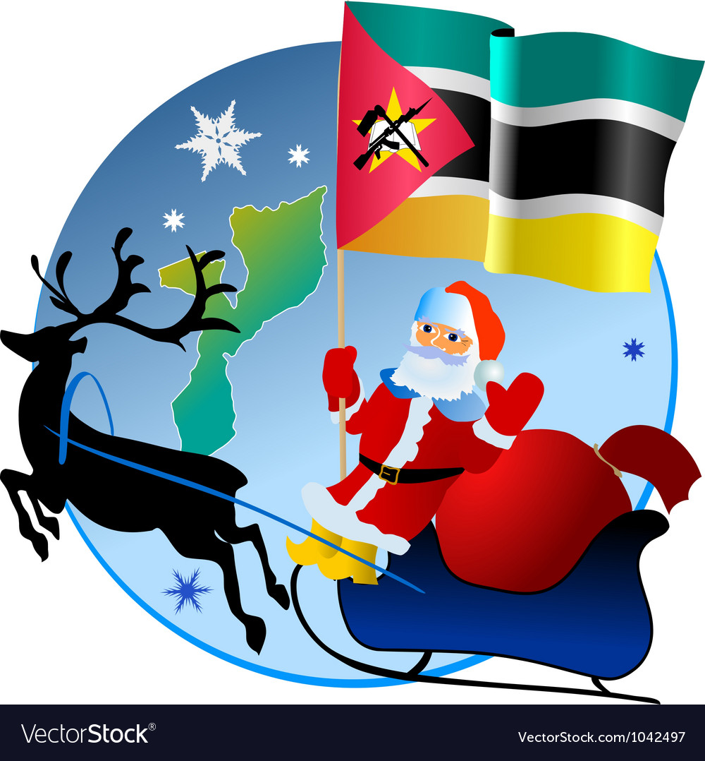 Merry christmas mozambique vector | Price: 1 Credit (USD $1)