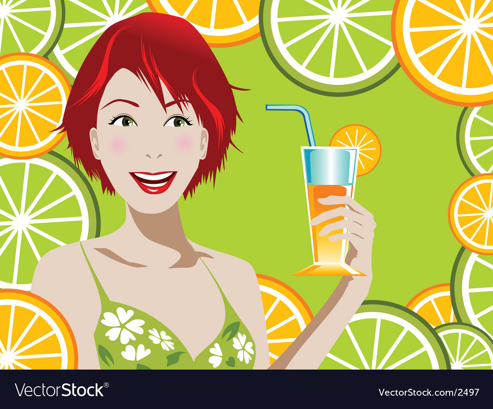 Orange juice vector | Price: 3 Credit (USD $3)