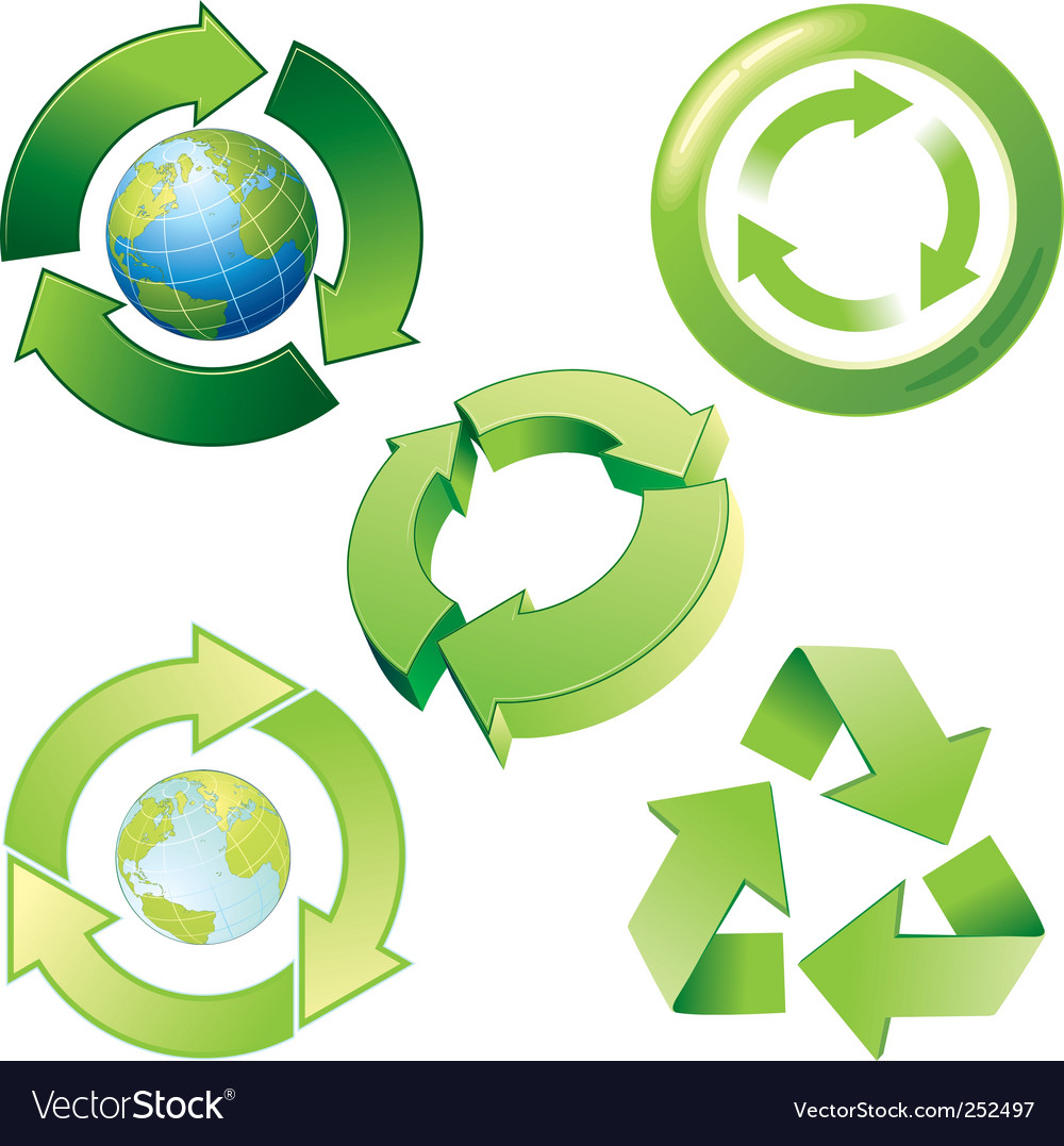 Recycle icons vector | Price: 3 Credit (USD $3)