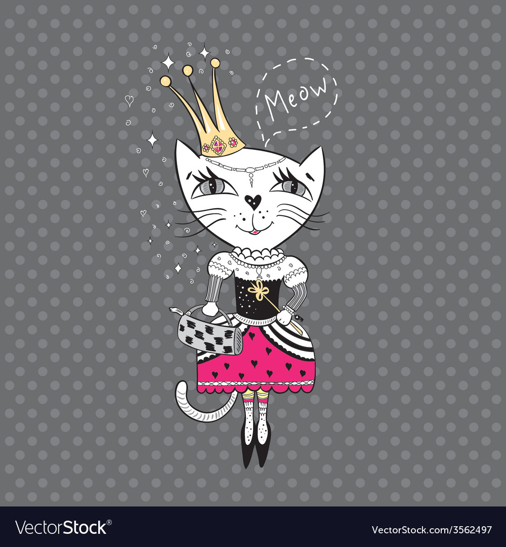 Royal cat vector | Price: 1 Credit (USD $1)