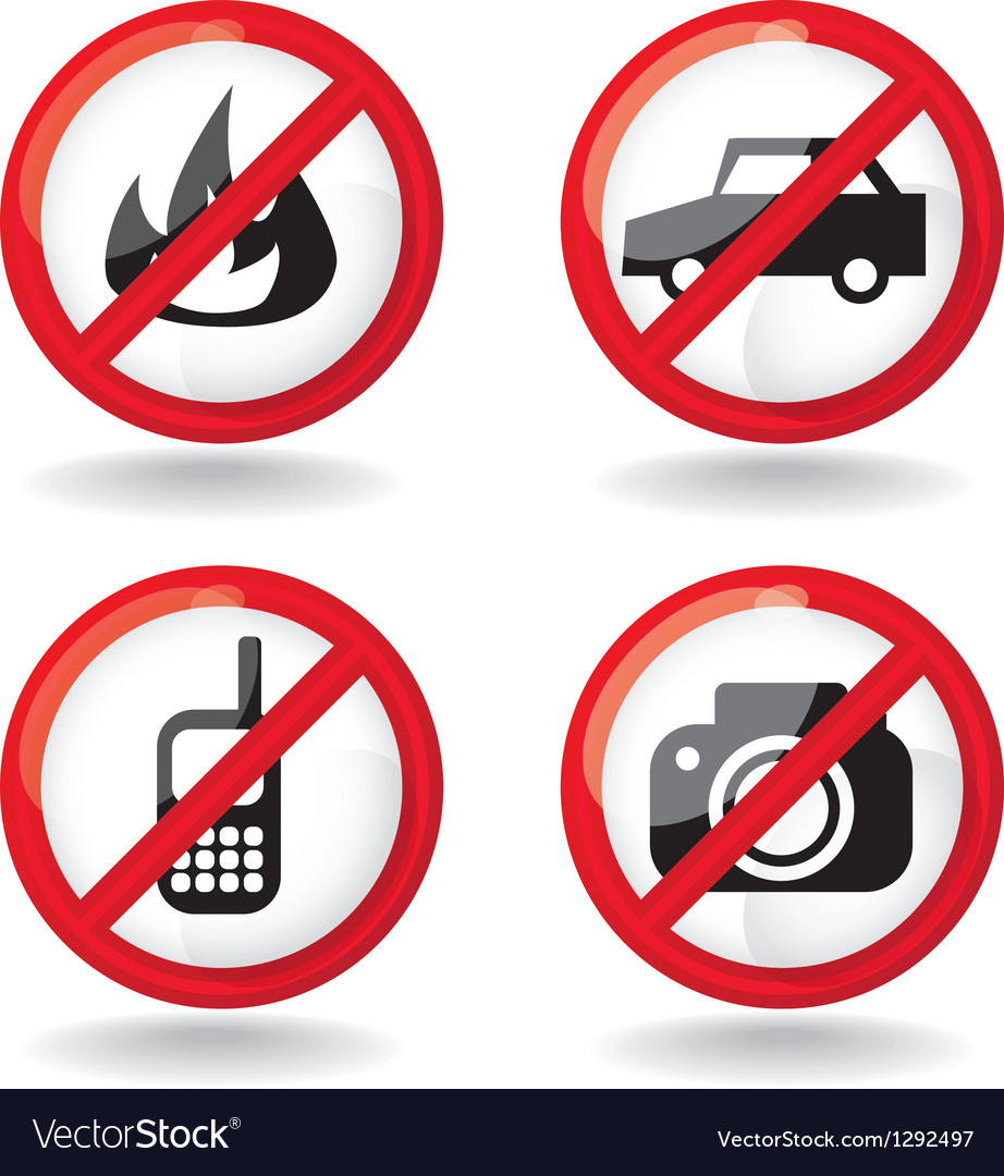 Set of do not allowed symbols - vector | Price: 1 Credit (USD $1)
