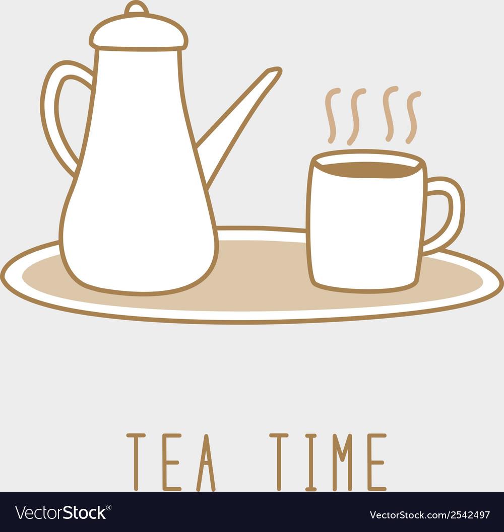 Tea time1 vector | Price: 1 Credit (USD $1)